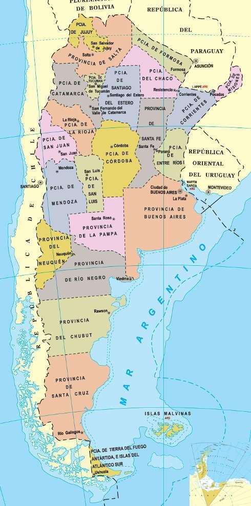 Argentina Provincias Y Capitales