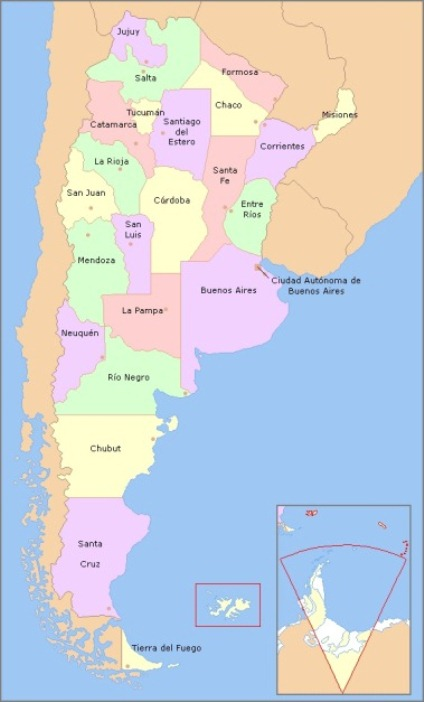 Argentina Provinces Learn The Provinces And Capitals Of Argentina - Argentina density map