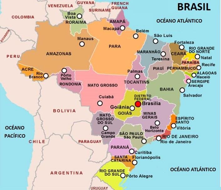 Brasil Estados Y Capitales