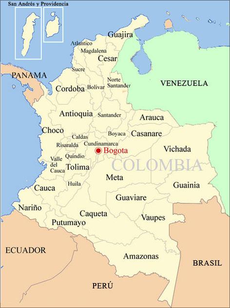 Aprende los Departamentos y las Capitales de Colombia