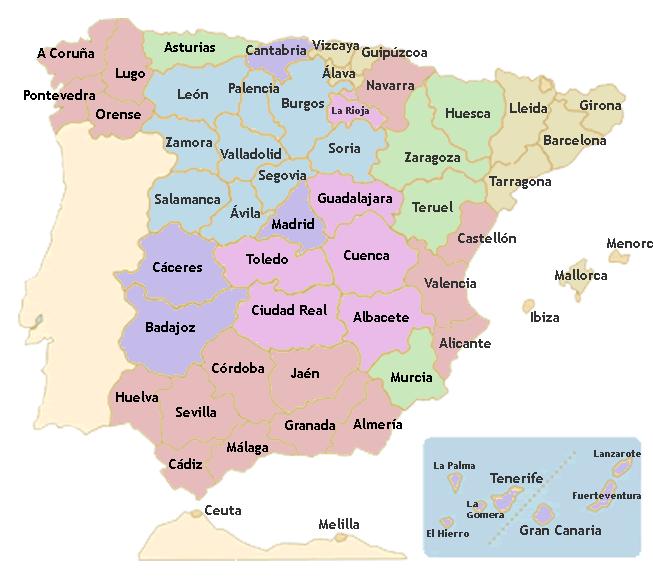 Aprende las Autonomas de Espaa y sus Capitales